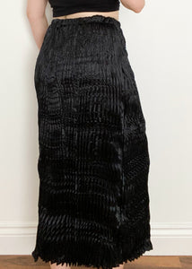 Black Ruched Maxi Skirt