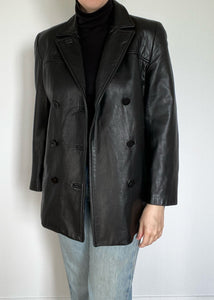 Double Breasted Danier Leather Jacket