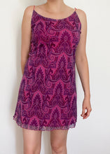 Neon Paisley Lettuce Hem Mini Dress