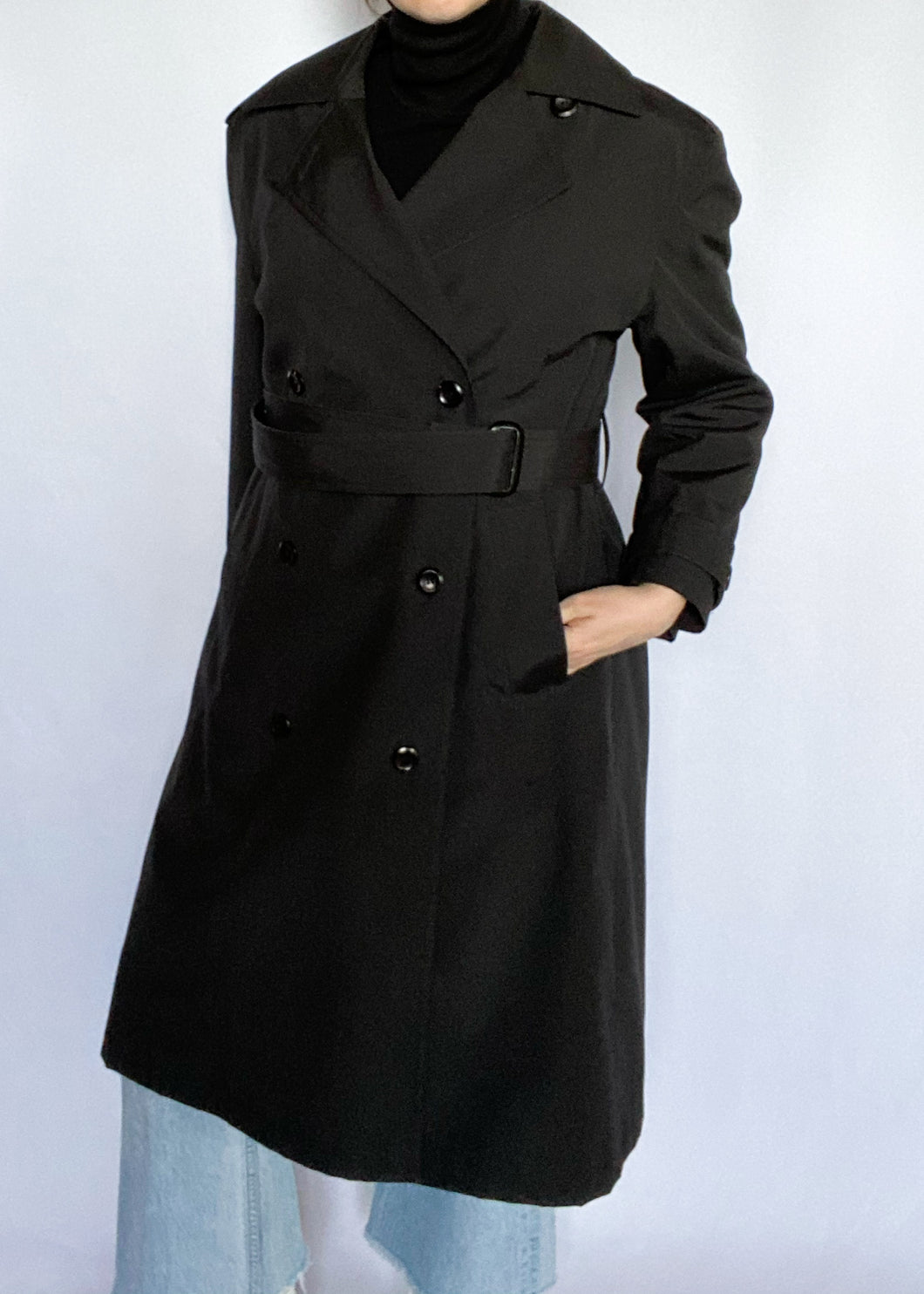 Black London Fog Trench Coat