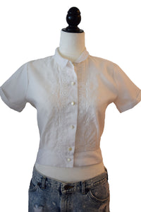 Short Sleeve Polyester Blouse