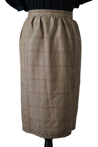 Upcycled Plaid Pencil Skirt