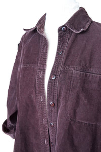 Oversized Corduroy Button-Up