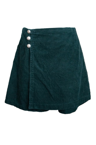 Forest Green Corduroy Skort