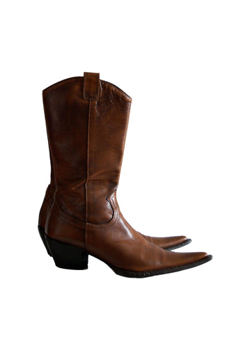 Italian Leather Cowboy Boots