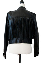 Synthetic Leather Fringe Jacket