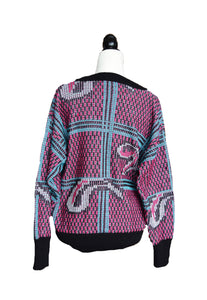 1980's Miss Holt Renfrew Deep-V Sweater