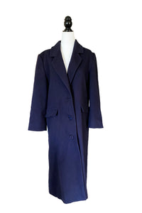 Navy London Fog Wool Coat