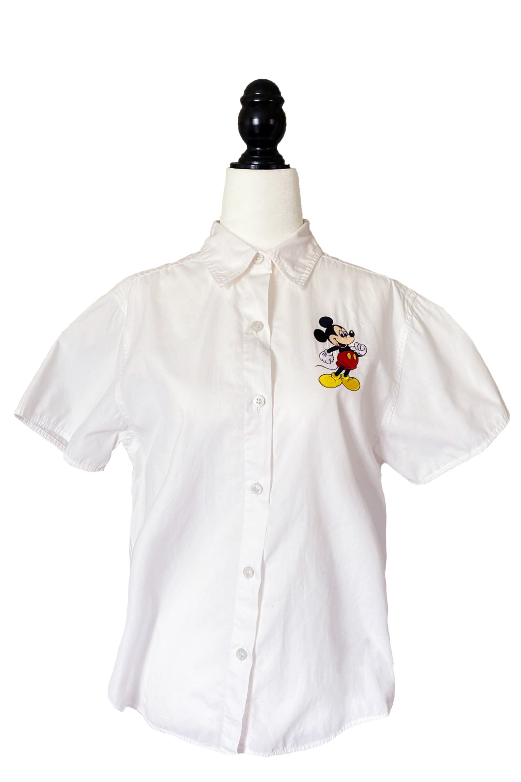 Mickey Mouse Collared Button-Up Tee