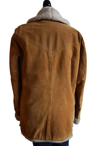 Heavy Duty 70's Suede Shearling Jacket