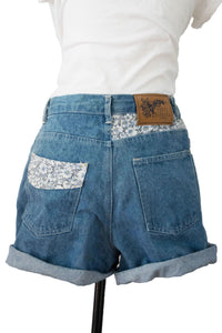 90's Daisy Denim Shorts