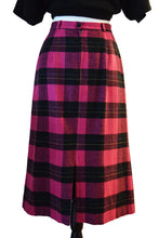 Vintage Plaid Midi Skirt