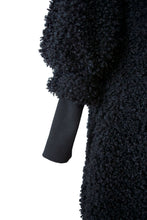 Black Teddy Bear Sweater-Jacket