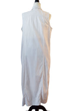 White Denim Maxi Vest