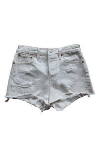 White Levi's Denim Cutoffs