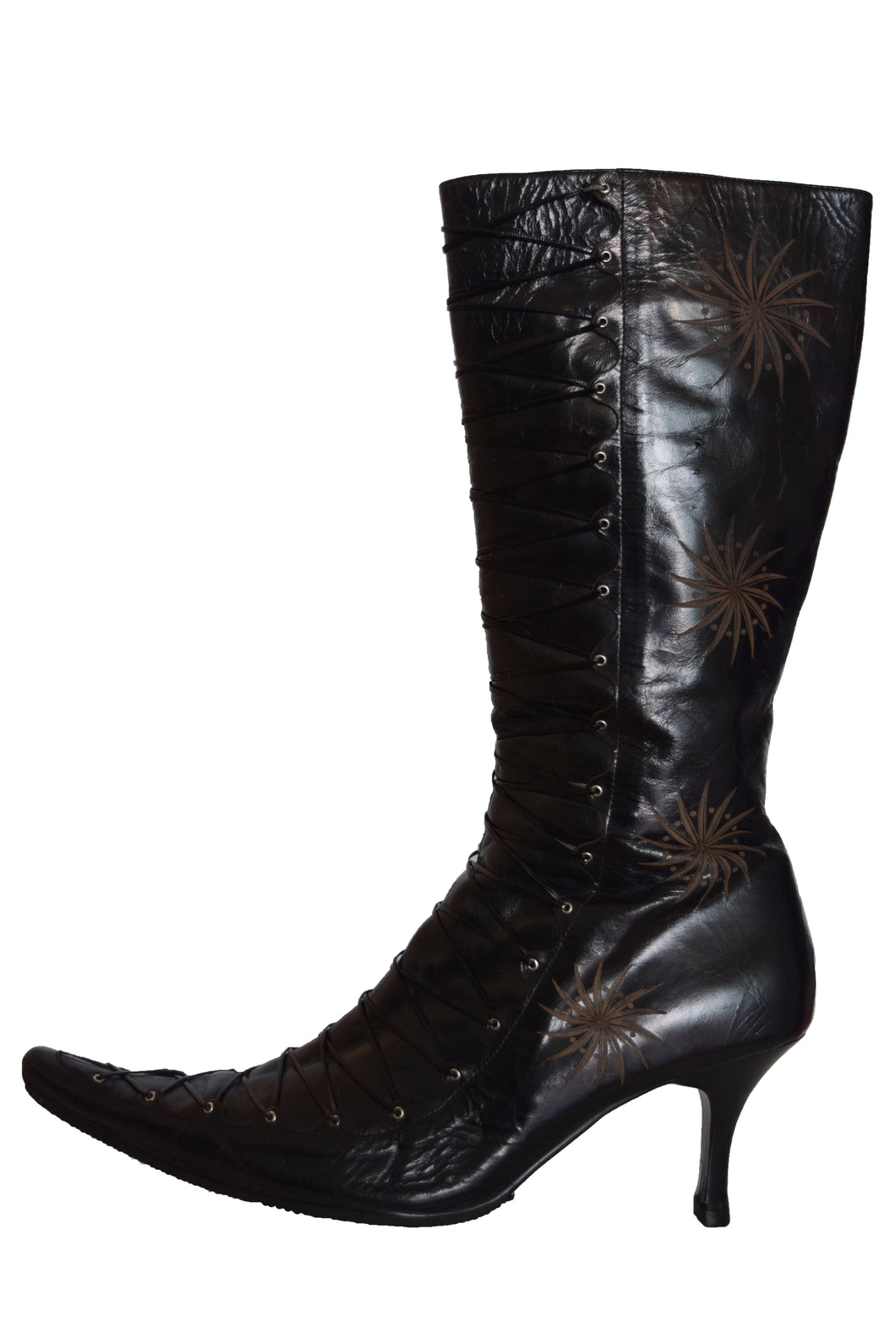 90's Leather Heeled Boot