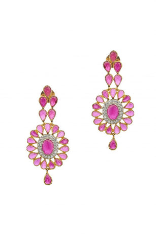 Ruby Color - Earrings