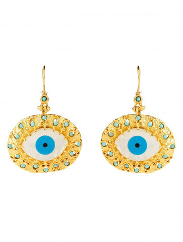 Evil Eye Earrings - Turquoise