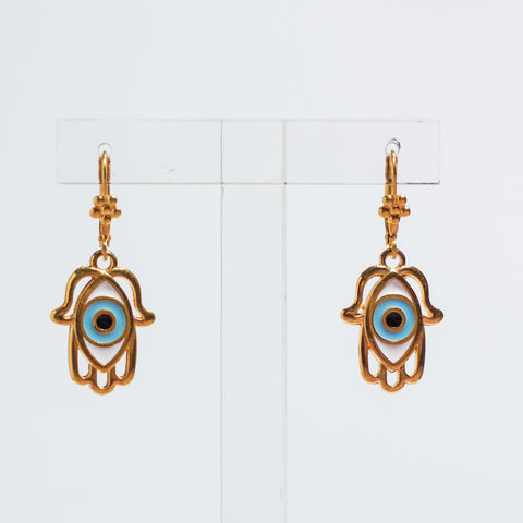 Small Fatimah Eye Earrings