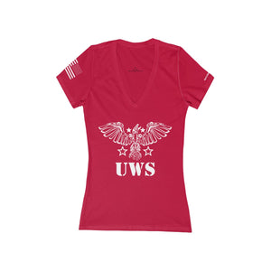 Womens UWS Official Deep V-Neck Jersey Tee