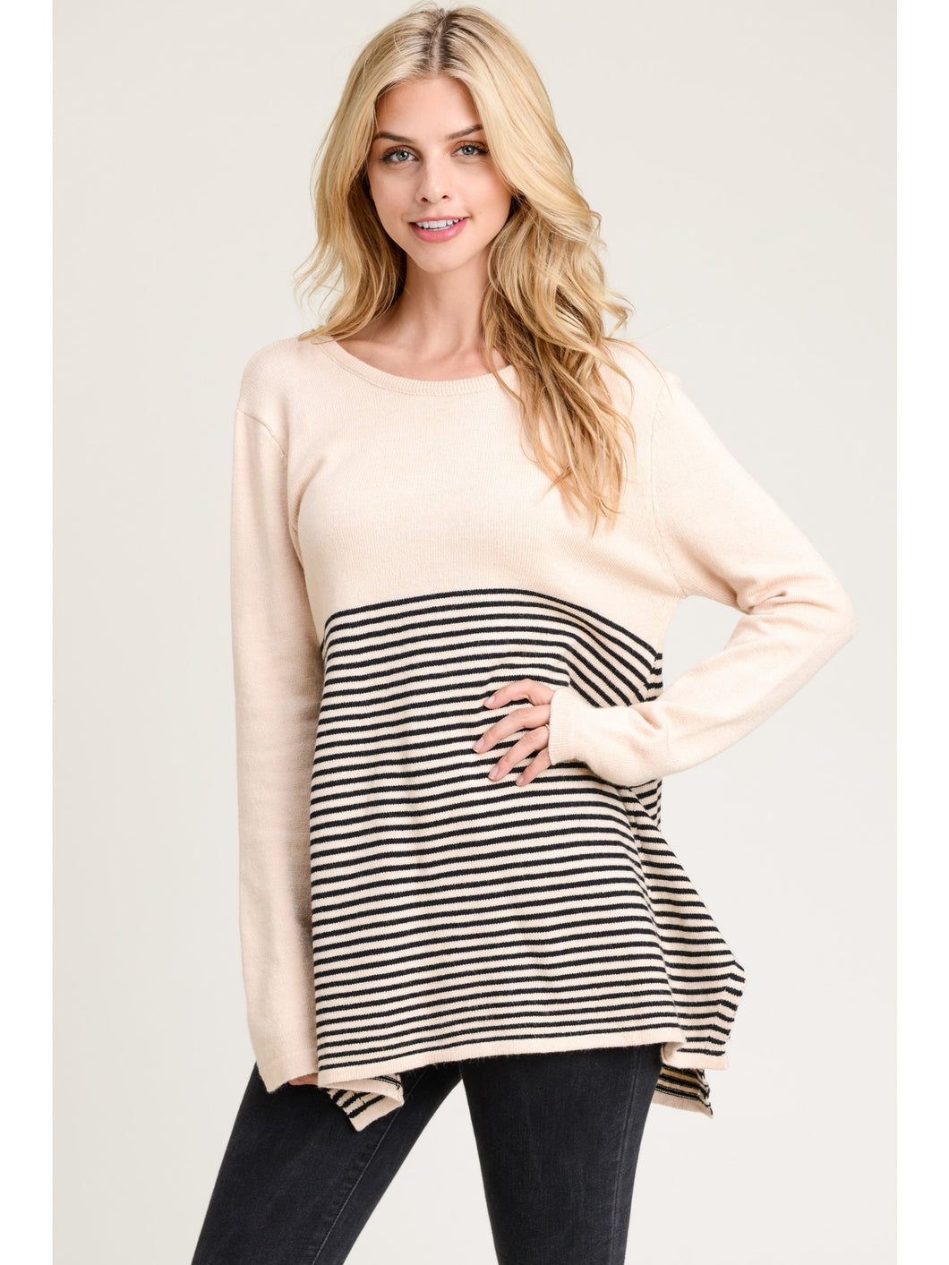 McKenna Long Sleeve Striped Sweater