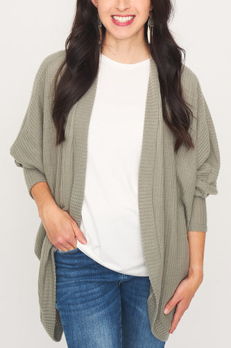 Rory Curved Hem Open Cardigan