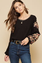 Load image into Gallery viewer, Emma Kate Embroidered Sleeve Blouse