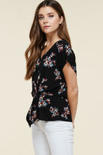 Load image into Gallery viewer, Renee Floral Waist Tie Top