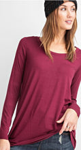 Load image into Gallery viewer, Allie V-Neckline Basic Long Sleeve Top
