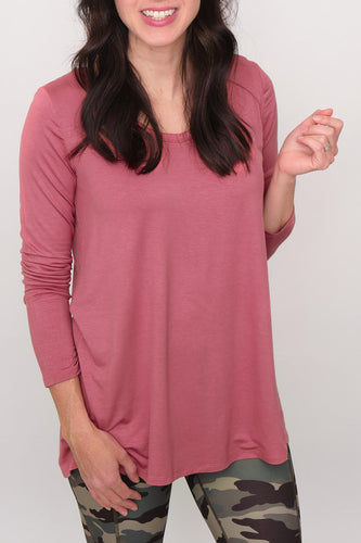 Allie V-Neckline Basic Long Sleeve Top