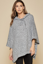 Load image into Gallery viewer, Soft Heather Grey Poncho