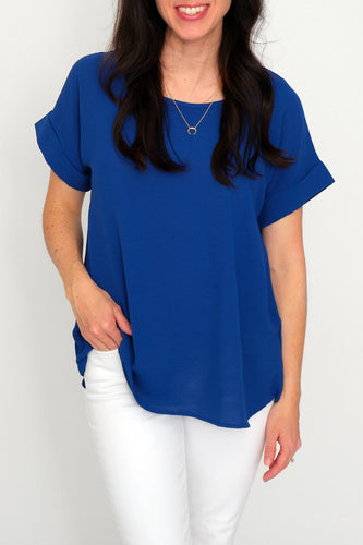 Aubrie Scoop-Neck Top