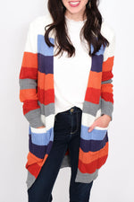 Charissa Stripe Long Cardigan