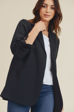 Load image into Gallery viewer, Ruched Sleeve Blazer