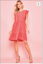 Load image into Gallery viewer, Joy Ruffle Sleeved Dress