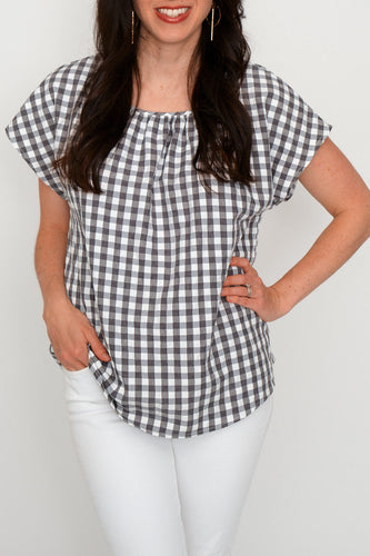 Gretchen Gingham Blouse