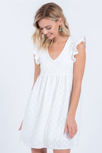 Eyelet Dreams Babydoll Dress