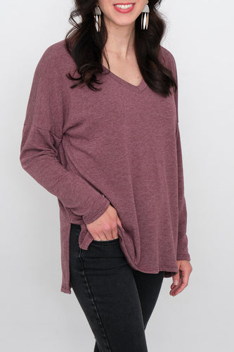 Jasie V-Neck French Terry Top