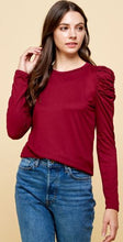 Load image into Gallery viewer, Louella Solid Top Frilled Detailed Sleeves