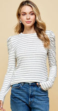 Load image into Gallery viewer, Louisa Striped Top Frilled Detailed Sleeves