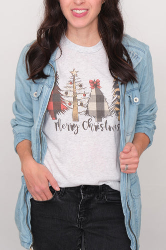Merry Christmas Trees Graphic Tee