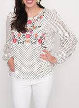 Load image into Gallery viewer, Polly Polka Dot Blouse