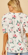 Load image into Gallery viewer, Primrose Floral Blouse with Puff Sleeves