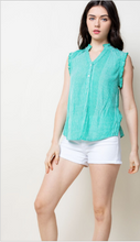 Load image into Gallery viewer, Gabriella Mint Sleeveless Top