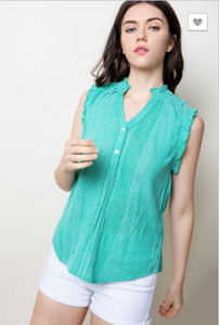 Gabriella Mint Sleeveless Top