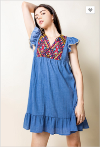 Summer Love Flutter Sleeve Dress