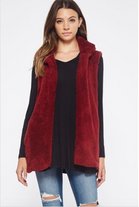 Fuzzy Vest with Pockets