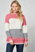 Load image into Gallery viewer, Karlie Color Block Knit Sweater