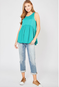 Sally Peplum Tank