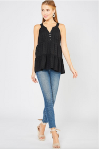 Daisy Eyelet Sleeveless